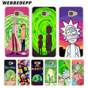 WEBBEDEPP Rick And Morty Funny Cartoon Hard Case For Galaxy A3 A5 2015 2016 2017 A6 A8 Plus 2018 Note 8 9 Grand Cover