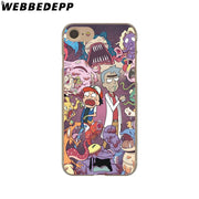 WEBBEDEPP Rick And Morty Season Hard Phone Case For IPhone X XS Max XR 7 8 6S Plus 5 5S SE 5C 4 4S Cover