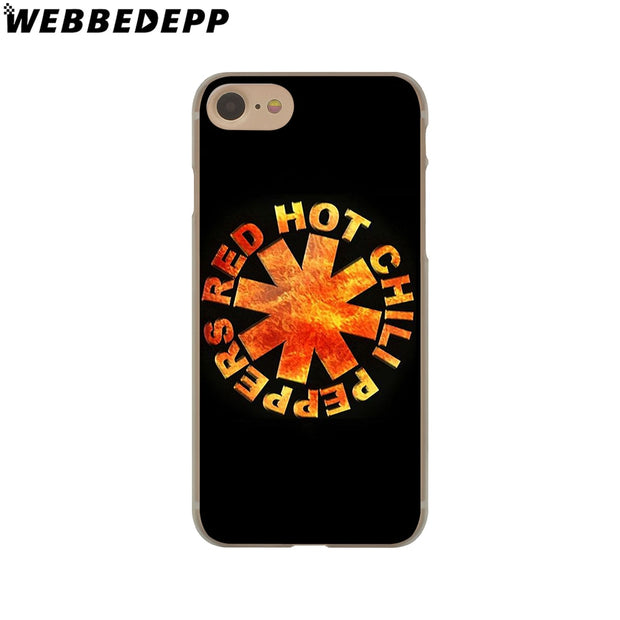 WEBBEDEPP Rock Band Red Hot Chili Peppers Hard Phone Case For IPhone X XS Max XR 7 8 6S Plus 5 5S SE 5C 4 4S Cover