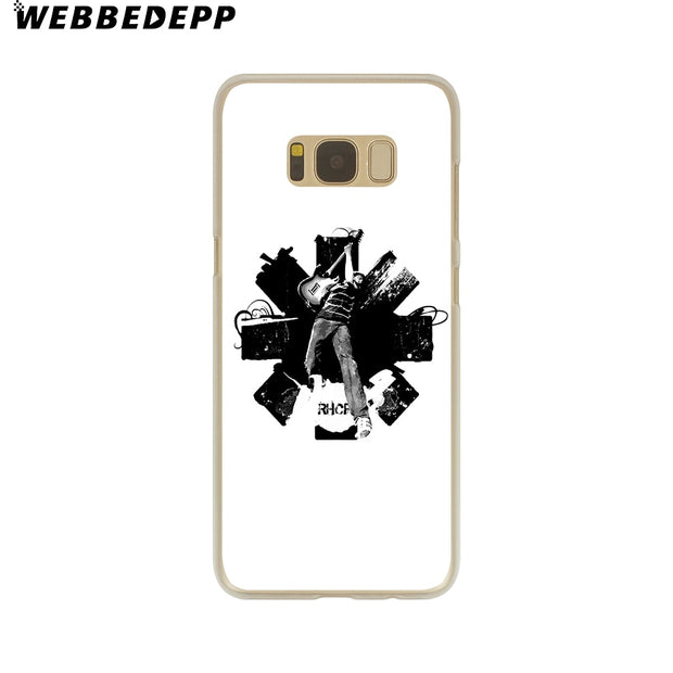 WEBBEDEPP Rock Band Red Hot Chili Peppers Hard Transparent Phone Case For Galaxy S6 S7 Edge S9 S8 Plus S5 S4 S3 Cover