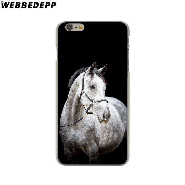 WEBBEDEPP Running Horse Clydesdale Horse Hard Phone Case For IPhone X XS Max XR 7 8 6S Plus 5 5S SE 5C 4 4S Cover