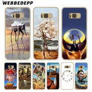 WEBBEDEPP Salvador Dali Hard Transparent Phone Case For Galaxy S6 S7 Edge S9 S8 Plus S5 S4 S3 Cover