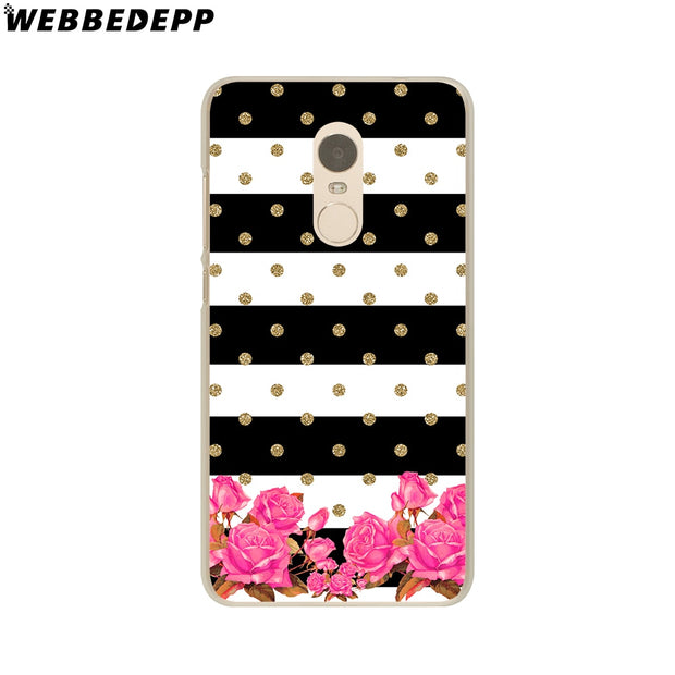 WEBBEDEPP Scale Flowers Stripe Fashion Cat Phone Case For Xiaomi Redmi 4X 4A 5A 5 Plus 6 Pro 6A S2 Note 5 6 Pro 4X Cover