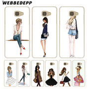 WEBBEDEPP Sexy Beautiful Girl Hard Case For Galaxy A3 A5 2015 2016 2017 A6 A8 Plus 2018 Note 8 9 Grand Cover