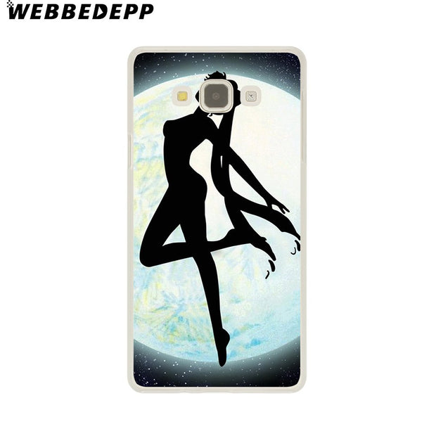 WEBBEDEPP Soldier Sailor Moon Cute Anime Hard Case For Galaxy A3 A5 2015 2016 2017 A6 A8 Plus 2018 Note 8 9 Grand Cover