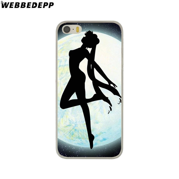 WEBBEDEPP Soldier Sailor Moon Cute Anime Hard Phone Case For IPhone X XS Max XR 7 8 6S Plus 5 5S SE 5C 4 4S Cover