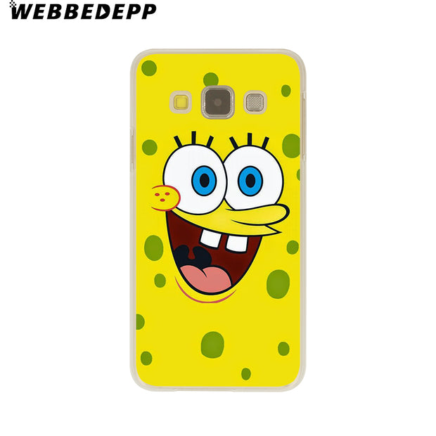 WEBBEDEPP Sponge Bob And Patrick Cartoon Hard Case For Galaxy A3 A5 2015 2016 2017 A6 A8 Plus 2018 Note 8 9 Grand Cover