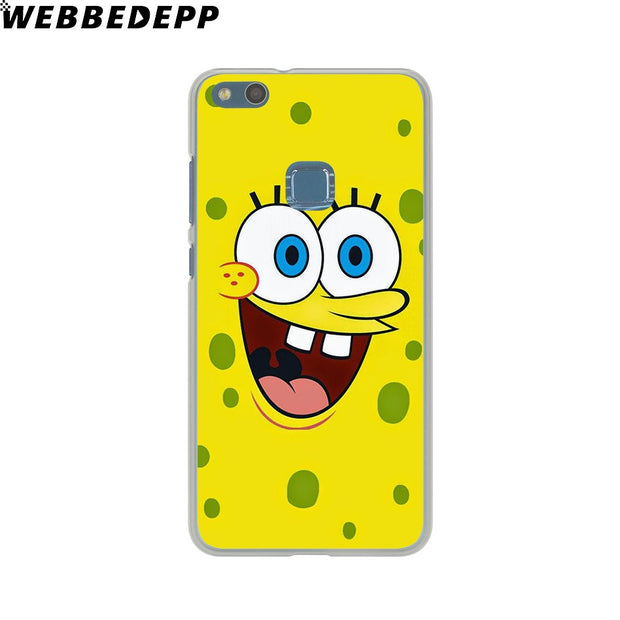 WEBBEDEPP Sponge Bob And Patrick Cartoon Phone Case For Huawei P20 Pro Smart P10 P9 Lite 2016/2017 P8 Lite 2015/2017 Cover