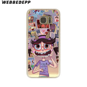 WEBBEDEPP Star Vs The Forces Of Evil Hard Transparent Phone Case For Galaxy S6 S7 Edge S9 S8 Plus S5 S4 S3 Cover