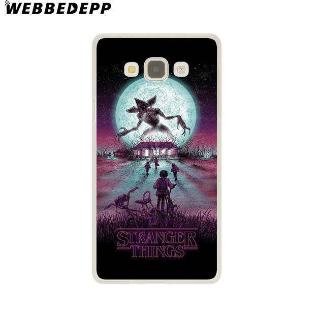 WEBBEDEPP Stranger Things Christmas Lights Hard Case For Galaxy A3 A5 2015 2016 2017 A6 A8 Plus 2018 Note 8 9 Grand Cover