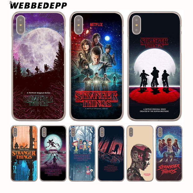WEBBEDEPP Stranger Things Christmas Lights Hard Phone Case For IPhone X XS Max XR 7 8 6S Plus 5 5S SE 5C 4 4S Cover