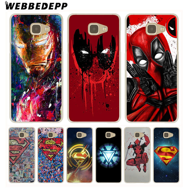 WEBBEDEPP Super Funny Cool Hero SuperMan Hard Case For Galaxy A3 A5 2015 2016 2017 A6 A8 Plus 2018 Note 8 9 Grand Cover