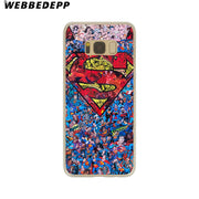 WEBBEDEPP Super Funny Cool Hero SuperMan Hard Transparent Phone Case For Galaxy S6 S7 Edge S9 S8 Plus S5 S4 S3 Cover