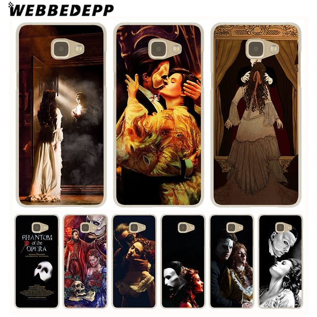 WEBBEDEPP The Phantom Of The Opera Hard Case For Galaxy A3 A5 2015 2016 2017 A6 A8 Plus 2018 Note 8 9 Grand Cover