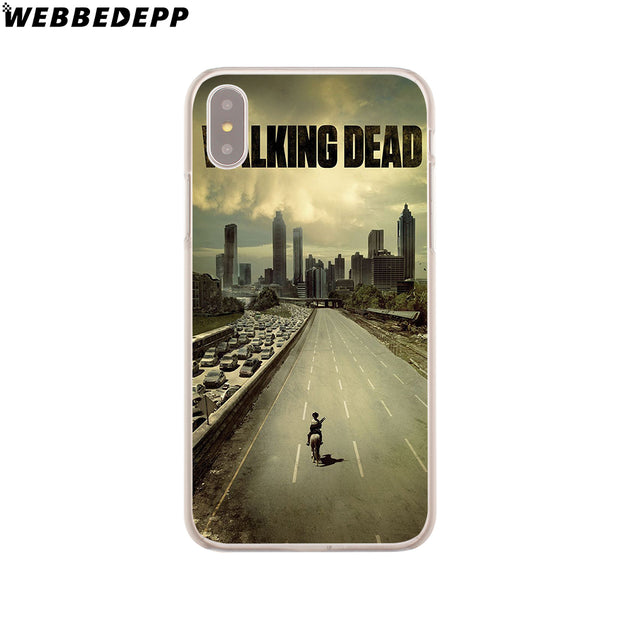 WEBBEDEPP The Walking Dead Hard Phone Case For IPhone X XS Max XR 7 8 6S Plus 5 5S SE 5C 4 4S Cover