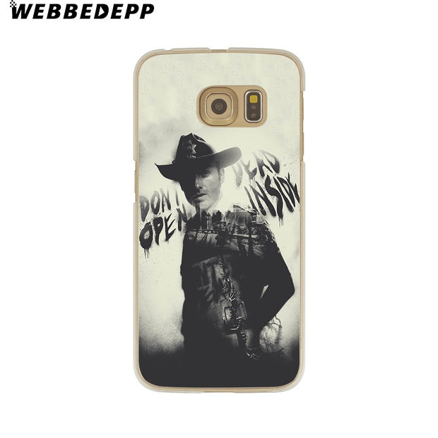 WEBBEDEPP The Walking Dead Hard Transparent Phone Case For Galaxy S6 S7 Edge S9 S8 Plus S5 S4 S3 Cover