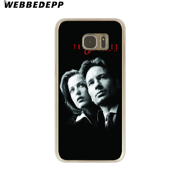 WEBBEDEPP The X Files Hard Transparent Phone Case For Galaxy S6 S7 Edge S9 S8 Plus S5 S4 S3 Cover