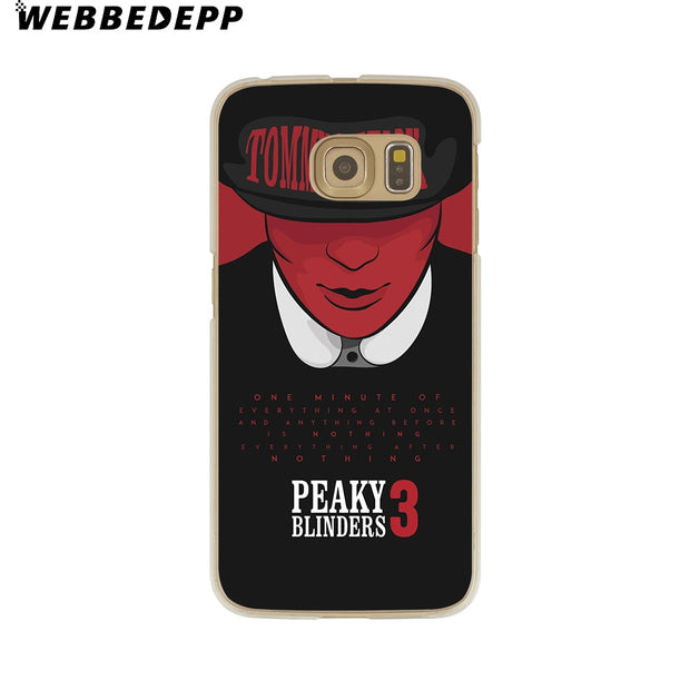 WEBBEDEPP Tommy Shelby Peaky Blinders Hard Transparent Phone Case For Galaxy S6 S7 Edge S9 S8 Plus S5 S4 S3 Cover