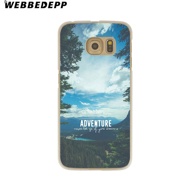 WEBBEDEPP Travel In The World Hard Transparent Phone Case For Galaxy S6 S7 Edge S9 S8 Plus S5 S4 S3 Cover