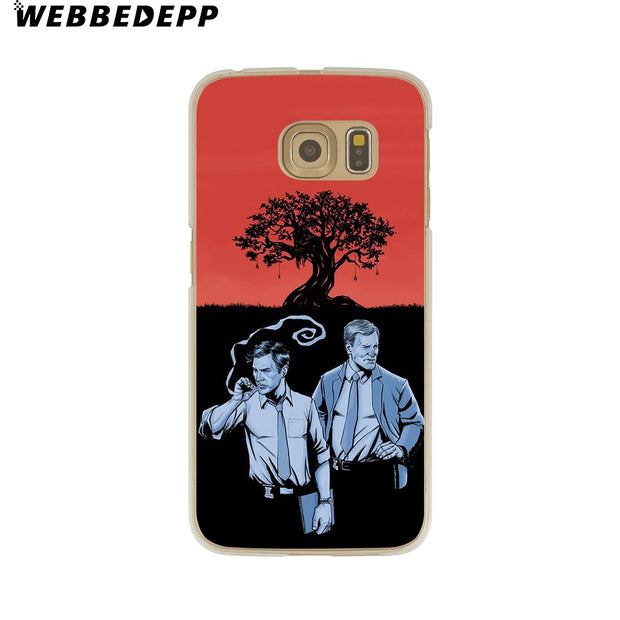 WEBBEDEPP True Detective Hard Transparent Phone Case For Galaxy S6 S7 Edge S9 S8 Plus S5 S4 S3 Cover