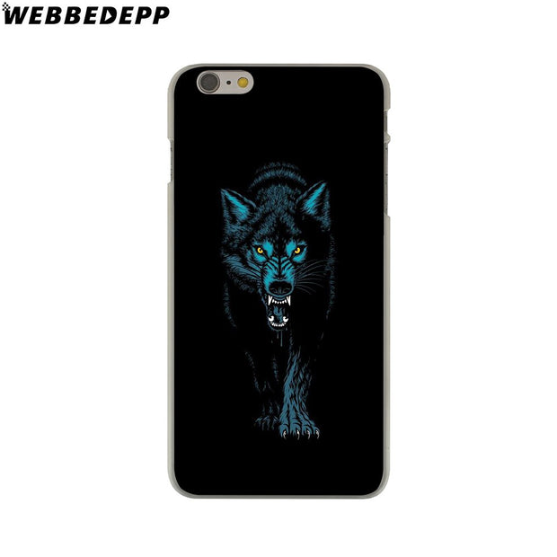WEBBEDEPP Wolf Hard Phone Case For IPhone X XS Max XR 7 8 6S Plus 5 5S SE 5C 4 4S Cover