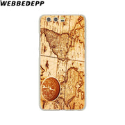 WEBBEDEPP World Map Travel Plans Phone Case For Huawei P20 Pro Smart P10 P9 Lite 2016/2017 P8 Lite 2015/2017 Cover
