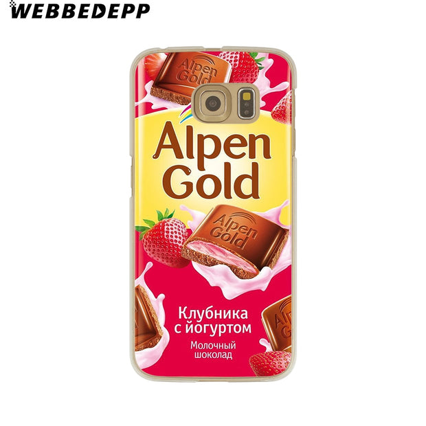 WEBBEDEPP Alenka Bar Wonka Chocolate Hard Transparent Phone Case For Galaxy S6 S7 Edge S9 S8 Plus S5 S4 S3 Cover