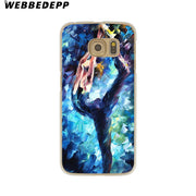WEBBEDEPP Ballet Dancer Watercolor Painting Hard Transparent Phone Case For Galaxy S6 S7 Edge S9 S8 Plus S5 S4 S3 Cover