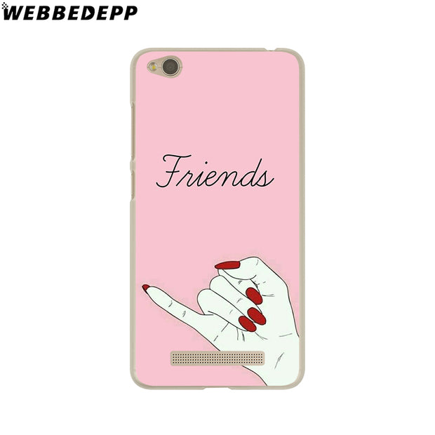 WEBBEDEPP Best Friend Forever Lovers Couple Phone Case For Xiaomi Redmi 4X 4A 5A 5 Plus 6 Pro 6A S2 Note 5 6 Pro 4X Cover