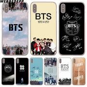 WEBBEDEPP Bts Bangtan Boys Hard Phone Case For IPhone X XS Max XR 7 8 6S Plus 5 5S SE 5C 4 4S Cover