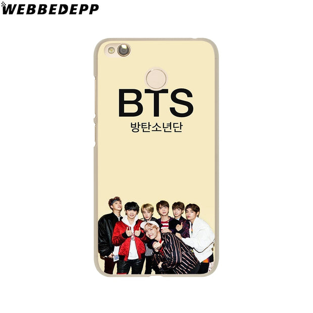 WEBBEDEPP Bts Bangtan Boys Phone Case For Xiaomi Redmi 4X 4A 5A 5 Plus 6 Pro 6A S2 Note 5 6 Pro 4X Cover
