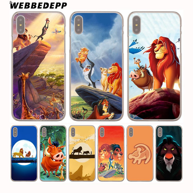 WEBBEDEPP Comic The Lion King Hakuna Matata Hard Phone Case For IPhone X XS Max XR 7 8 6S Plus 5 5S SE 5C 4 4S Cover