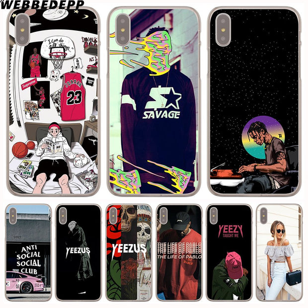 WEBBEDEPP Fashion Style Hard Phone Case For IPhone X XS Max XR 7 8 6S Plus 5 5S SE 5C 4 4S Cover