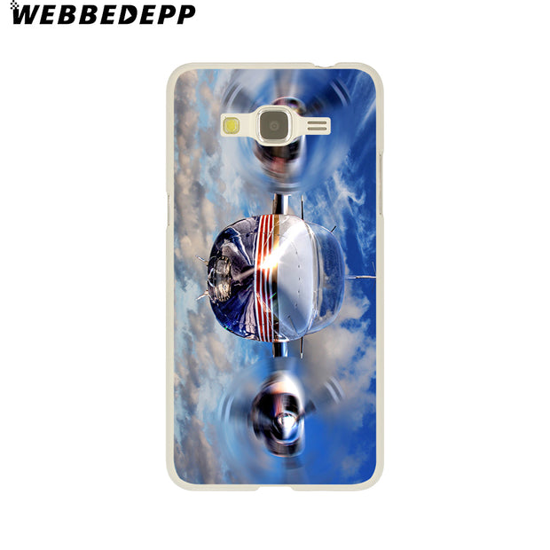 WEBBEDEPP Fighter Propeller Plane Aircraft Airplane Hard Case For Galaxy A3 A5 2015 2016 2017 A6 A8 Plus 2018 Note 8 9 Grand