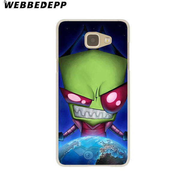 WEBBEDEPP Invader Zim Hard Case For Galaxy A3 A5 2015 2016 2017 A6 A8 Plus 2018 Note 8 9 Grand Cover