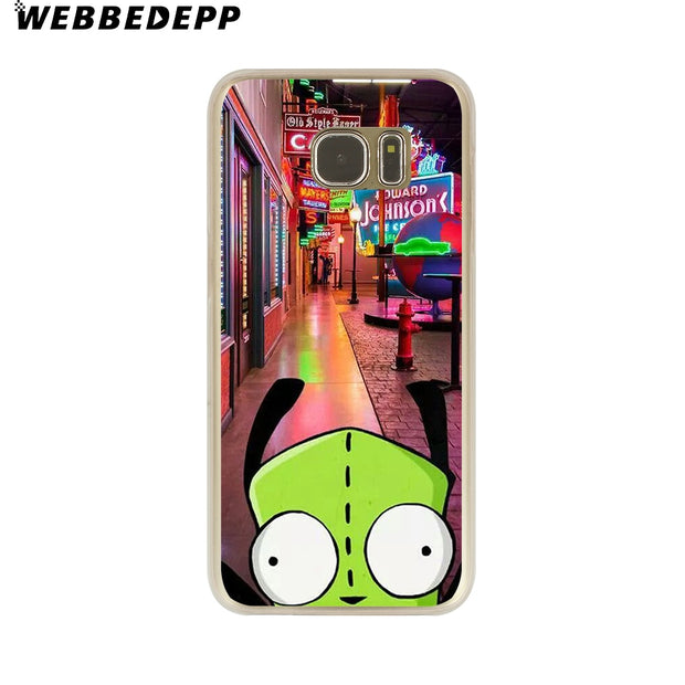WEBBEDEPP Invader Zim Hard Transparent Phone Case For Galaxy S6 S7 Edge S9 S8 Plus S5 S4 S3 Cover