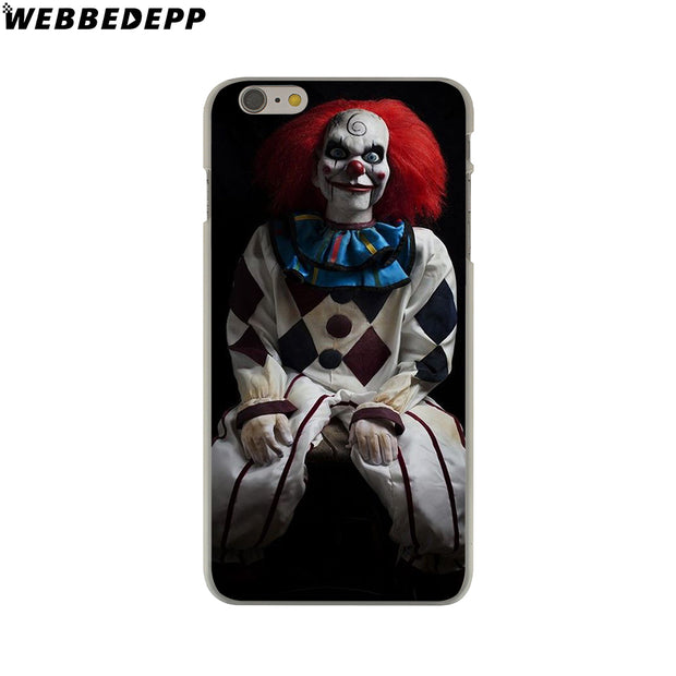 WEBBEDEPP John Malkovich Clown Evil Hard Phone Case For IPhone X XS Max XR 7 8 6S Plus 5 5S SE 5C 4 4S Cover