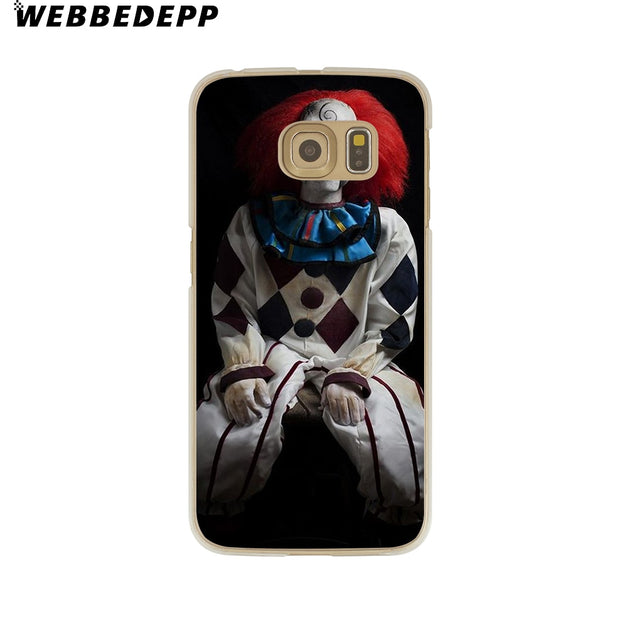 WEBBEDEPP John Malkovich Clown Evil Hard Transparent Phone Case For Galaxy S6 S7 Edge S9 S8 Plus S5 S4 S3 Cover