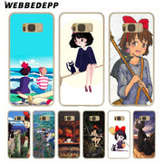WEBBEDEPP Kiki's Delivery Service Hard Transparent Phone Case For Galaxy S6 S7 Edge S9 S8 Plus S5 S4 S3 Cover