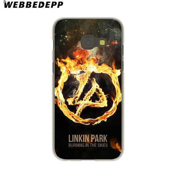 WEBBEDEPP Linkin Park Hard Case For Galaxy A3 A5 2015 2016 2017 A6 A8 Plus 2018 Note 8 9 Grand Cover
