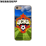 WEBBEDEPP Moscow Cska Zcka Football Hard Phone Case For IPhone X XS Max XR 7 8 6S Plus 5 5S SE 5C 4 4S Cover