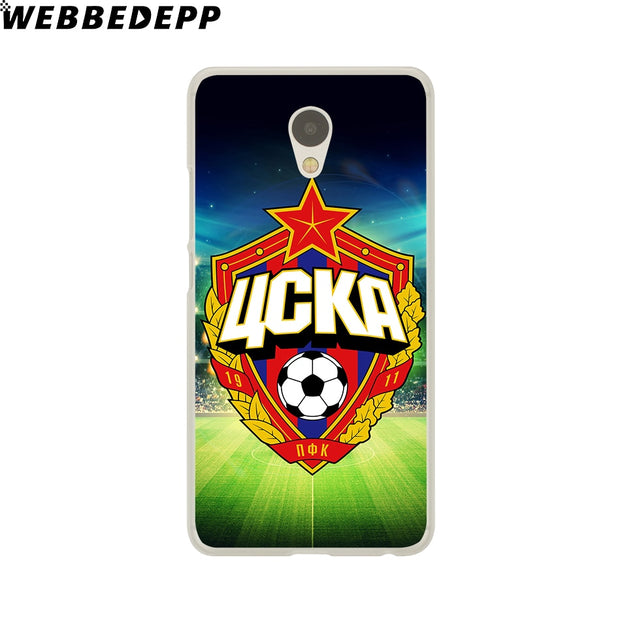 WEBBEDEPP Moscow Cska Zcka Football Phone Case For Meizu M6 M5 M3 Note M6S M5S M5C M3S Mini Cover