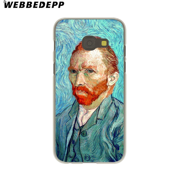 WEBBEDEPP Paintings Starry Night Van Gogh Hard Case For Galaxy A3 A5 2015 2016 2017 A6 A8 Plus 2018 Note 8 9 Grand Cover