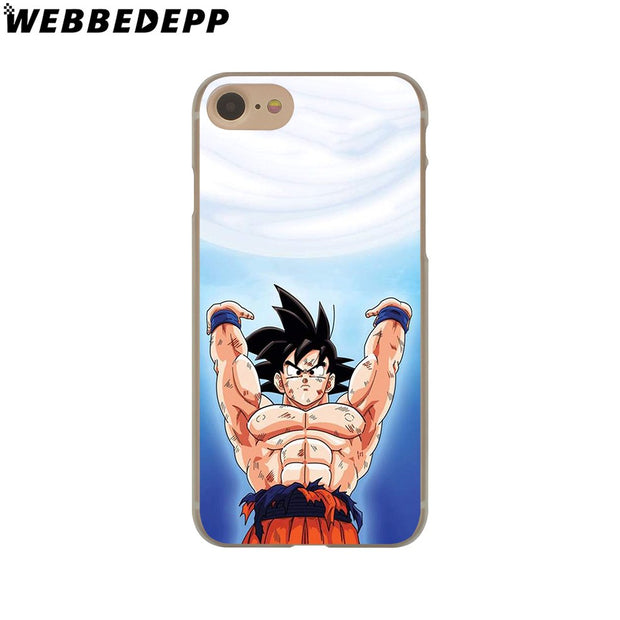 WEBBEDEPP Sale Dragon Ball Z Goku Hard Phone Case For IPhone X XS Max XR 7 8 6S Plus 5 5S SE 5C 4 4S Cover