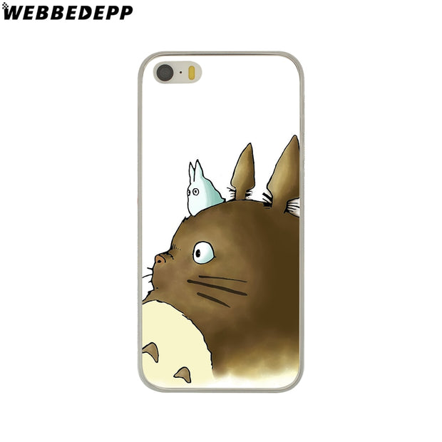 WEBBEDEPP Studio Ghibli Ghibli Totoro Hard Phone Case For IPhone X XS Max XR 7 8 6S Plus 5 5S SE 5C 4 4S Cover