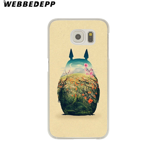 WEBBEDEPP Studio Ghibli Ghibli Totoro Hard Transparent Phone Case For Galaxy S6 S7 Edge S9 S8 Plus S5 S4 S3 Cover