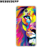 WEBBEDEPP Tiger Lion Animal Howl Phone Case For Meizu M6 M5 M3 Note M6S M5S M5C M3S Mini Cover