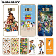 WEBBEDEPP Toy Story Hard Transparent Phone Case For Galaxy S6 S7 Edge S9 S8 Plus S5 S4 S3 Cover