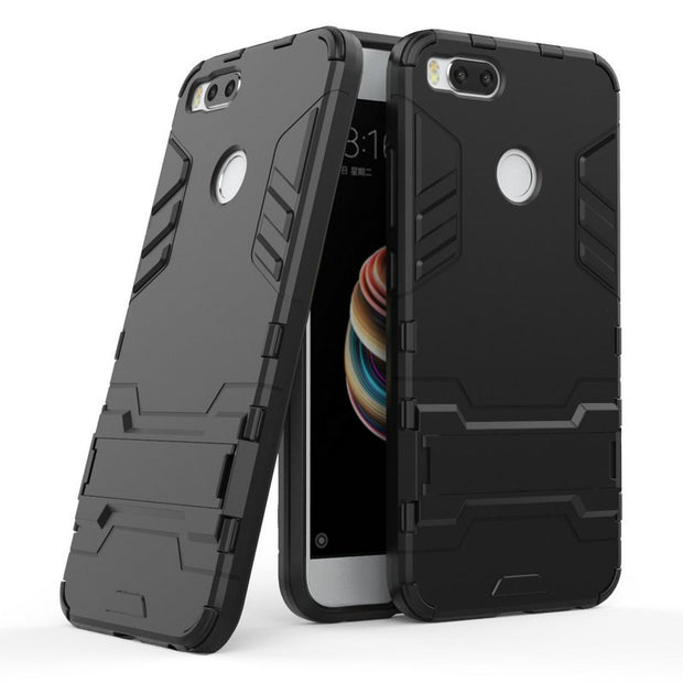 WIRESS 3D Luxury Combo Armor Case For Xiaomi Mi 5X Mi5X For Xiaomi Mi A1 4GB 64GB Shockproof Back Cover Case Shell With Stand