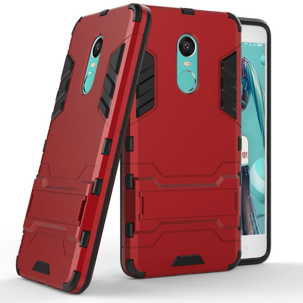 WIRESS 3D Luxury Combo Armor Case For Xiaomi Redmi Note 4X 3GB 16GB 32GB 4GB 64GB Shockproof Back Cover Case Shell With Stand